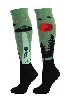 I Believe In Aliens Knee High Socks