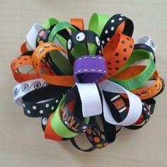 Halloween loopy bow