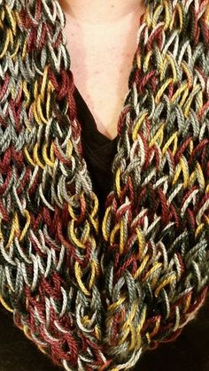 B and A Kraftz and Hobbieez Facebook Finger Knitted Infinity Scarf $15