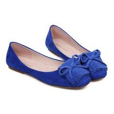$12.26 Casual Women's Flat Shoes With Sweet Tassels and Bow Design