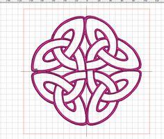 """Stickdatei """"Keltischer Knoten 8"""" von facileetbeaugusta auf Etsy"""