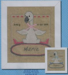 Goose with Bow - Cross Stitch Kit
