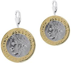 Vicenza Silver Sterling Set of 2 1000-Lire CoinCharms