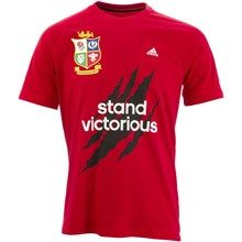 British and Irish Lions Stand Victorious Winners Tee Red 2013 Rugby Kit, Rugby Sport, British And Irish Lions, Victorious, Tees, Sports, Mens Tops, T Shirt, Hs Sports