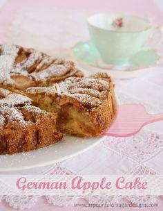 German Apple Cake - A Spoonful of Sugar