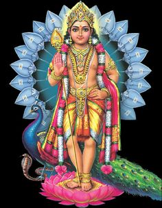 The god is known by different names such as Karthikeya, Skanda, Vadivela and Murugan at various temples.