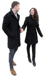 Cutout Couple Walking 0035 available for download in XL size