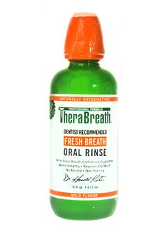 ~Dr. Harold Katz's Therabreath Fresh Breath Oral Rinse~        I've been looking for a product like this for some time & then one day BAM! there this was staring up at me from my local drug store's mouthwash shelf. I had no idea it would work as well as it has! I detest morning breath & find its a nonissue when using this as directed. I've found it in Duane Reade in NYC. Happy gargling! ~RR            [oral rinse, bad breath, halitosis products, canker sores]