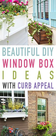 Beautiful DIY Window Box Ideas with Curb Appeal These Beautiful DIY Window Boxes will add a fresh and fabulous new look to your home along with adding to the curb appeal Enjoy the collection of tutorials waiting for you #DIY #DIYWindowBox #DIYFlowerBox #DIYOutdoorProjects #Garden #Gardening #HomeImprovement