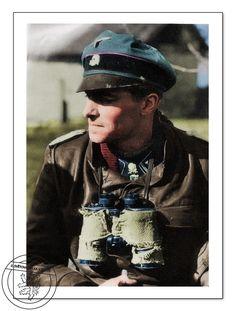 Standartenführer Joachim Peiper. Photo coloriert.