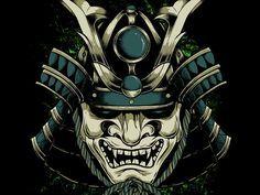 Shogun Mask By Xevriex Hannya Samurai, Kabuto Samurai, Samurai Helmet, Oni Mask Tattoo, Samurai Warrior Tattoo, Hannya Tattoo, Best 3d Tattoos, Asian Tattoos, Bild Tattoos