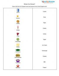 Worksheets Bilingual Worksheets spanish printable worksheets and on pinterest food worksheet