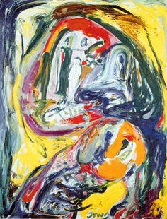 Asger Jorn - Le monde perdue, 1960 Mouvement Cobra (situationniste, proche de Guy Debord)