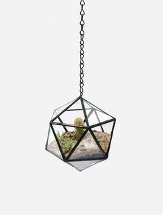 Lovely Handmade Geometric Glass Terrariums | Jeannie Huang