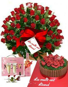 Frumos buchetul și dulce tortul!Cele două calitati Birthday Wishes Flowers, Happy Birthday, Table Decorations, Sunday, Birthday Congratulations, Flowers, Hipster Stuff, Happy Brithday, Domingo