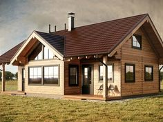 Risultati immagini per maison bois madrier Style At Home, Exterior Colors, Home Fashion, Gazebo, Architecture Design, Shed, Outdoor Structures, Cabin, House Styles