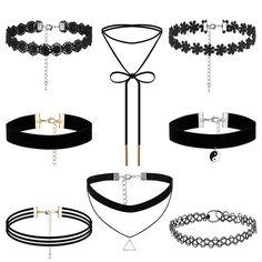 8Pcs Choker Necklace Set