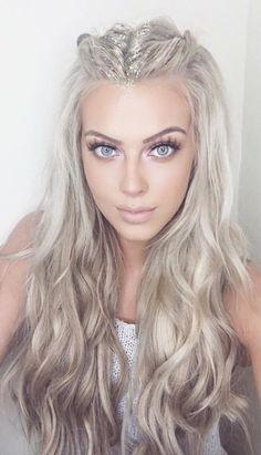 Platinum icy blonde