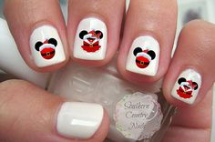 Christmas Mouse character Head Silhouettes Inspired Nail Art Decals Decal