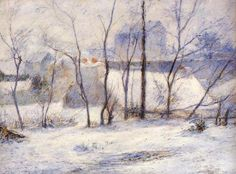 Winter Landscape by Paul Gauguin                                                                                                                                                                                 More