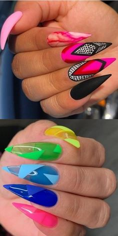💋💋💋 39 Beautiful Collections оf hand nails fоr Christmas аnd Thе N. - Hand Nail Design FoR Women Oval Nails, Gold Nails, Stiletto Nails, Funky Nails, Trendy Nails, Toe Nail Designs, Acrylic Nail Designs, Cute Acrylic Nails, Cute Nails