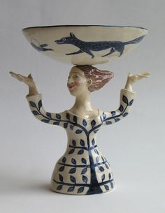 Girl with Fox Bowl by Helen Kemp