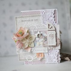 Card made by Evgenia, using the Vintage Baby collection