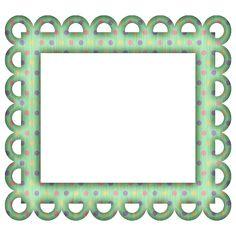 picture frames for scrapbooking free | FREE GREEN POLKA DIGI SCRAPBOOK FRAME