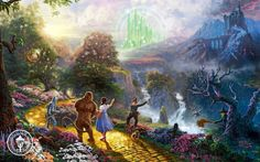 Wizard of Oz by Thomas Kinkade Disney Dreams Canvas Multiple Sizes Available