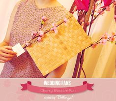 A Charming Cherry Blossom Fan | created by the Wedding Bistro at Bellenza