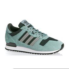 Adidas Originals Zx 700 Shoes - Vapour Steel/Metallic Silver/Utility Ivy