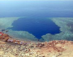 The Blue Hole (Dahab) - 130m straight down
