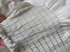 smocked linen chemise