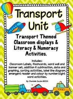 Transport Mega Bundle. Over 130 pages of transport activities, lessons and resources for your classroom.