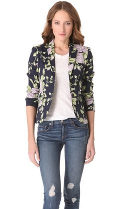 Rag & Bone Bailey Floral Print Jacket - need to have something floral in my closet next Spring