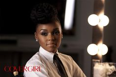 Snapped backstage at COVERGIRL Janelle Monáe's first COVERGIRL Photo Shoot.