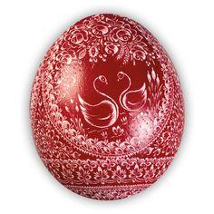 Velikonoční kraslice vyškrabovaná pštrosí jednobarevná vzor pj-0130 – Borkovanské kraslice