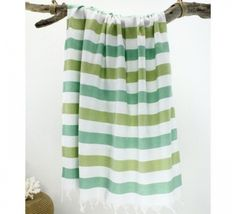 This x Green & White Stripe Peshtemal Towel is perfect! Towel, Curtains, Green, Bath, Products, Beach Towel, Blinds, Bathing, Draping