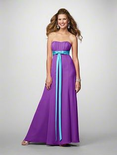 Blue Bridesmaid Dresses Purple Flowers