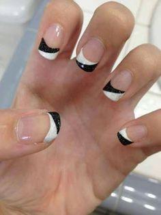 manicure francesa con linea negra - Buscar con Google