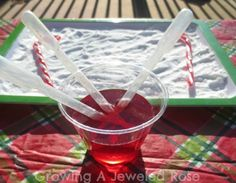 Candy Cane Science Activity ~ Growing A Jeweled Rose Abc Preschool, Preschool Christmas Activities, Science Activities For Kids, Winter Activities, Kid Science, Science Ideas, Science Fair Board, Candy Experiments, Primary Science