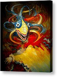 Vejigante Painting by Pedro Brull - Vejigante Fine Art Prints and Posters for Sale