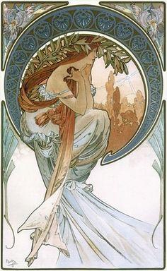 1 parte.  imagen de la mujer en el estilo del Art Nouveau.  |  Taller Creativo Marina Trublinoy