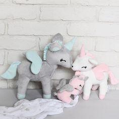 Unicorn family set of 3