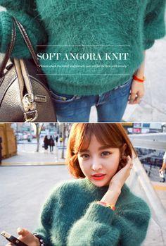 Imvely Soft Angora Knit Sweater