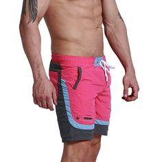 Desmiit Summer Beach Men's Shorts Leisure Sport Running Workout Shorts New Patchwork Fast Dry Surf Men's BoardShorts DT63