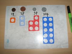 money and numicon Numicon Activities, Money Activities, Money Games, Math Resources, Preschool Activities, Numeracy, Preschool Learning, Year 1 Maths, Early Years Maths