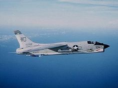 F-8E VMF-212 CVA-34 1965.was a single-engine, supersonic, carrier-based air superiority jet aircraft[2] built by Vought for the United States Navy and Marine Corps, replacing the Vought F7U Cutlass, and for the French Navy. The first F-8 prototype was ready for flight in February 1955, and served principally in the Vietnam War. The Crusader was the last American fighter with guns as the primary weapon.The RF-8 Crusader was a photo-reconnaissance development