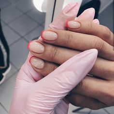 135 cute french manicure designs ideas to try this season page 25 Cute Acrylic Nails, Cute Nails, Pretty Nails, Nail Manicure, Gel Nails, Pink Tip Nails, Salon Nails, Manicure Ideas, Nail Ideas