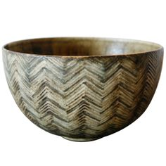 Large Axel Salto Studio Bowl , Denmark 1948 | From a unique collection of antique and modern pottery at http://www.1stdibs.com/furniture/dining-entertaining/pottery/
